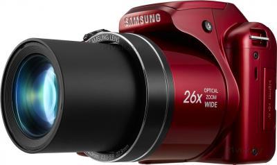 Компактный фотоаппарат Samsung WB110 (EC-WB110ZBARRU Red) - вид сбоку