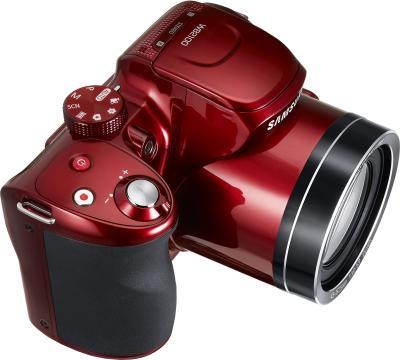 Компактный фотоаппарат Samsung WB2100 (EC-WB2100BPRRU Red) - общий вид