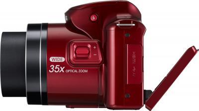 Компактный фотоаппарат Samsung WB2100 (EC-WB2100BPRRU Red) - вид сбоку