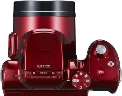 Компактный фотоаппарат Samsung WB2100 (EC-WB2100BPRRU Red) - вид сверху