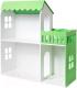 Аксессуар для куклы Столики Детям Кукольный домик два этажа с балконом ДК-2С (салатовый) -