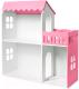 Аксессуар для куклы Столики Детям Кукольный домик два этажа с балконом ДК-2Р (розовый) -