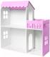 Аксессуар для куклы Столики Детям Кукольный домик два этажа с балконом ДК-2Ф (сиреневый) -