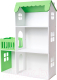Аксессуар для куклы Столики Детям Кукольный домик три этажа с балконом ДК-3С (салатовый) -