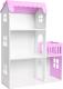 Аксессуар для куклы Столики Детям Кукольный домик три этажа с балконом ДК-3Ф (сиреневый) -