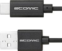 Кабель USB Atomic LS-01 TYPE-C (черный) -