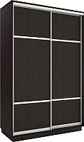 Шкаф/стенка/секция Евва 138 VS.03 / АЭП ШК.2 02 (венге/серебро) -