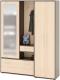 Шкаф/стенка/секция Сокол-Мебель ВШ-6+ШО-1 (венге/беленый дуб) -