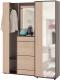 Шкаф/стенка/секция Сокол-Мебель ВШ-7+ШО-2 (венге/беленый дуб) -