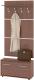 Шкаф/стенка/секция Сокол-Мебель ВШ-3.1+ТП3 (испанский орех) -