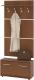 Шкаф/стенка/секция Сокол-Мебель ВШ-3.1+ТП3 (ноче экко) -