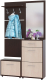 Шкаф/стенка/секция Сокол-Мебель ВШ-5.1+ТП-1+ТП-2+ПЗ-3 (венге/беленый дуб) -