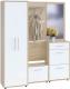Шкаф/стенка/секция Сокол-Мебель ВШ-5.1+ТП-1+П3-3+ТП-2+ШО-1 (дуб соносма/белый) -