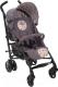 Детская прогулочная коляска Chicco Lite Way Top (коричневый с пазлами) -