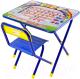 Стол/стул детский Дэми №1 Алфавит (синий) -
