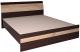 Кровать Интерлиния Коламбия КЛ-001 160 с основанием (дуб венге/дуб серый) -