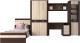 Шкаф/стенка/секция Интерлиния Коламбия-5 (дуб венге/дуб серый) -