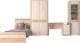 Шкаф/стенка/секция Интерлиния Коламбия-5 (дуб сонома/дуб белый) -