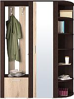 Шкаф/стенка/секция Интерлиния Коламбия-6 (дуб венге/дуб серый) -