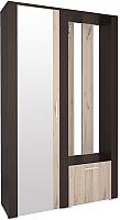 Шкаф/стенка/секция Интерлиния Коламбия КЛ-14 (дуб венге/дуб серый, левый) -