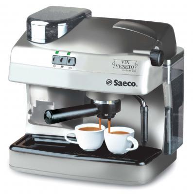 Кофеварка эспрессо Saeco Via Veneto Combi de Luxe Silver - общий вид