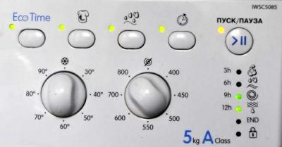 Стиральная машина Indesit IWSC 5085 - панель управления