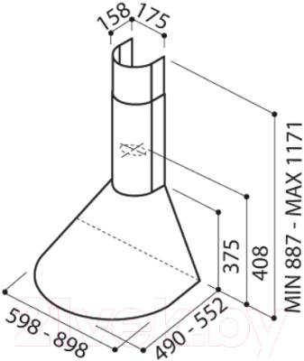 Вытяжка купольная Elica Tonda IX F/60