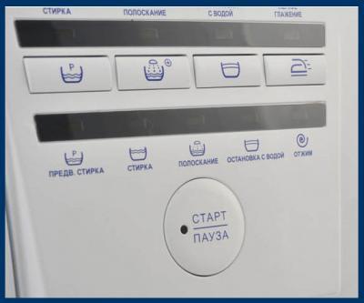 Стиральная машина ATLANT СМА 45У81 - панель управления