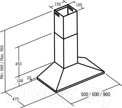 Вытяжка купольная Cata V 500 (нержавеющая сталь)