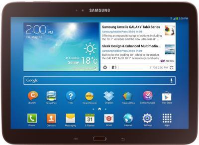 Планшет Samsung Galaxy Tab 3 10.1 GT-P5210 (16GB Brown) - фронтальный вид