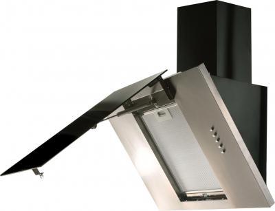 Вытяжка декоративная Zorg Technology Vesta 1000 (90, нержавейка матовая/черный) - с открытым стеклом, фильтр