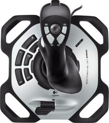 Джойстик Logitech Extreme 3D Pro (942-000031) - вид сверху
