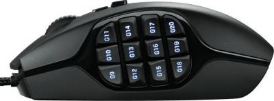 Мышь Logitech G600 (910-003623) - вид сбоку
