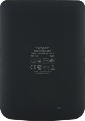 Электронная книга TeXet TB-138 (Black) - вид сзади
