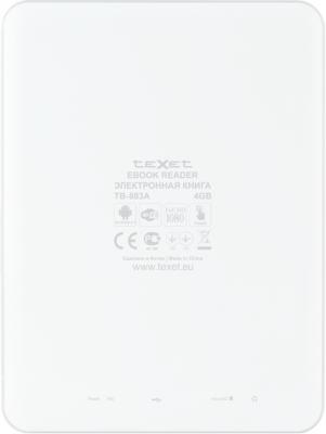 Планшет TeXet TB-883A (White) - вид сзади