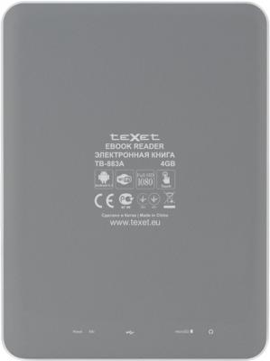 Планшет TeXet TB-883A (Gray) - вид сзади