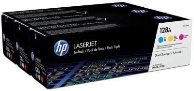 Комплект тонер-картриджей HP 128A 3-pack (CF371AM) - общий вид