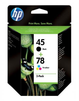 Комплект картриджей HP 45 Black+78 Tri-color Combo-pack (SA308AE) - общий вид