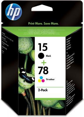 Комплект картриджей HP 15 Black/78 Tri-color 2-pack (SA310AE) - общий вид