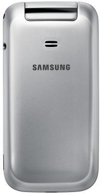 Мобильный телефон Samsung C3592 Dual (серебристый) - вид сзади