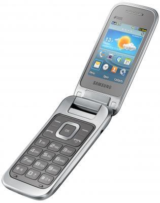 Мобильный телефон Samsung C3592 Dual (серебристый) - общий вид