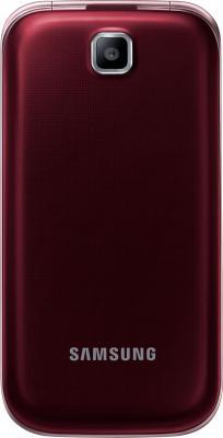 Мобильный телефон Samsung C3592 Dual (красный) - общий вид