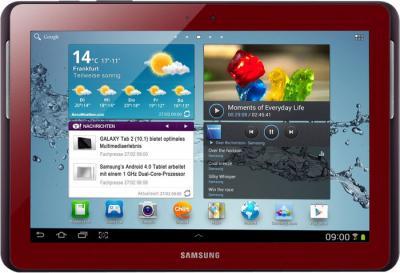Планшет Samsung Galaxy Tab 3 10.1 GT-P5210 (16GB Red) - фронтальный вид