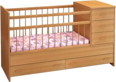 Детская кровать-трансформер Бэби Бум Маруся (Бук) - общий вид