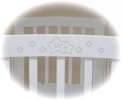Детская кроватка Красная звезда Марина С702 (Шоколад) - резьба на примере Марина (белый)