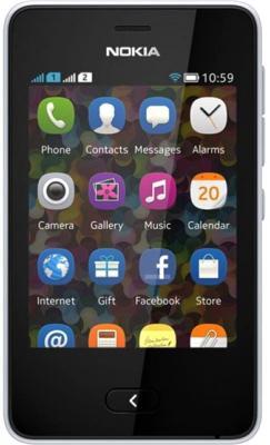 Мобильный телефон Nokia Asha 501 Dual (White) - общий вид