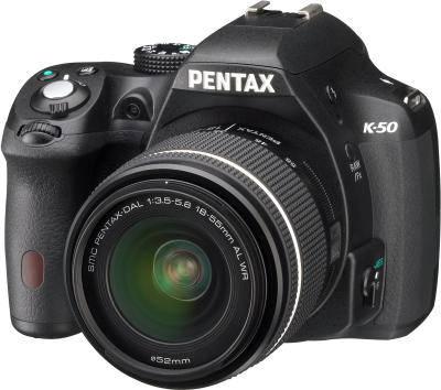 Зеркальный фотоаппарат Pentax K-50 Kit (DA 18-55mm WR+DA 50-200mm WR) - общий вид