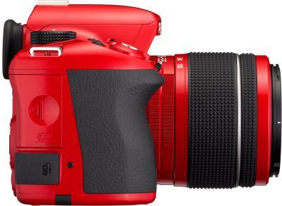 Зеркальный фотоаппарат Pentax K-50 Kit (DA L 18-55mm WR, красный) - общий вид