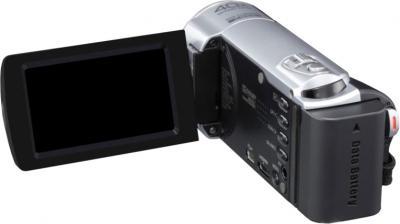 Видеокамера JVC GZ-E100 (Silver) - вид сзади