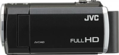 Видеокамера JVC GZ-E105 (Black) - вид сбоку